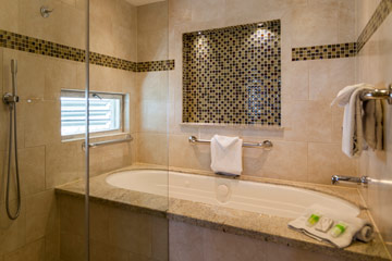 Penthouses master bath tub